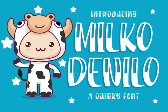 Print on Demand: Milko Denilo Display Font By Blankids Studio