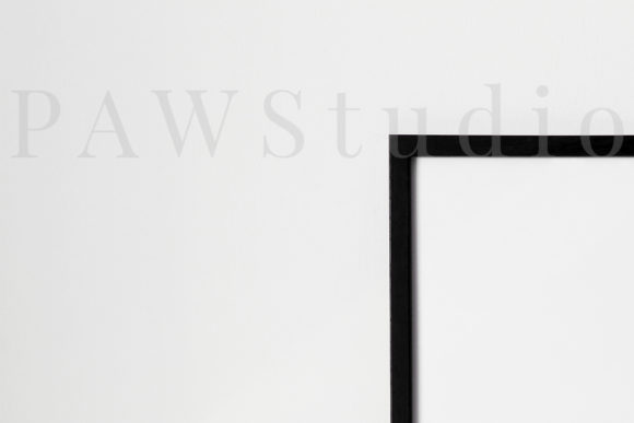 Download Free Minimalist Mockup Black Photo Frame Graphic By Pawmockup SVG Cut Files