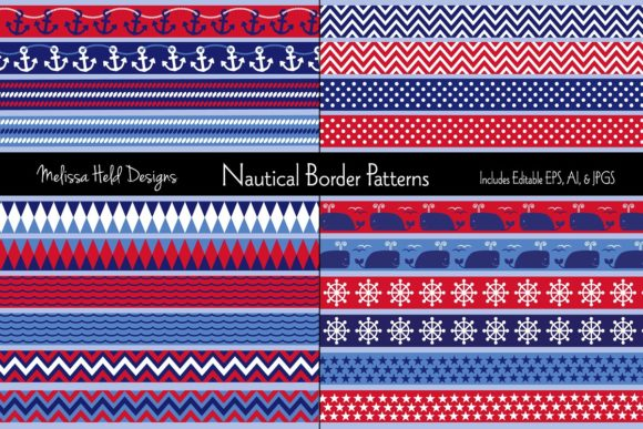 Nautical Border Patterns Graphic Patterns By Melissa Held Designs