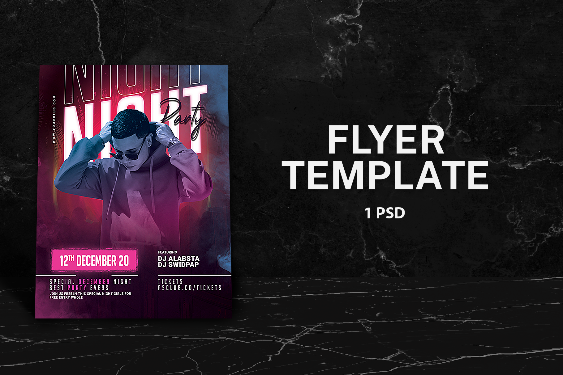 Night Party Flyer Template Graphic By Qohhaarqhaz Creative Fabrica