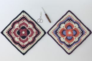 Olivia Grace Afghan Square Graphic Crochet Patterns By AYarnofSerendipity