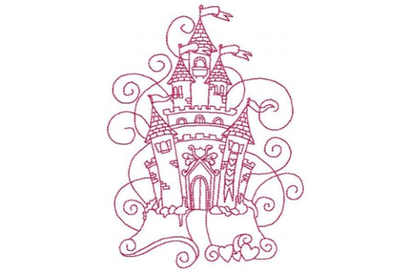 Princess Beautiful Castle Fairy Tales Embroidery Design By Sookie Sews