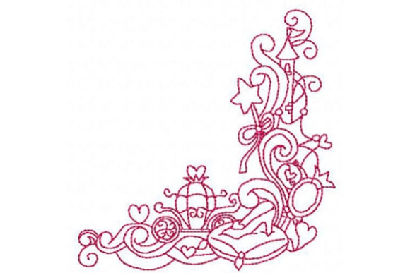 Princess Corner Design Fairy Tales Embroidery Design By Sue O'Very Designs