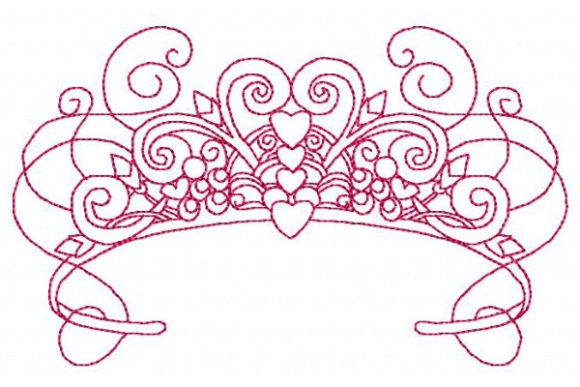 Princess Lovely Tiara Accessories Embroidery Design By Sue O'Very Designs