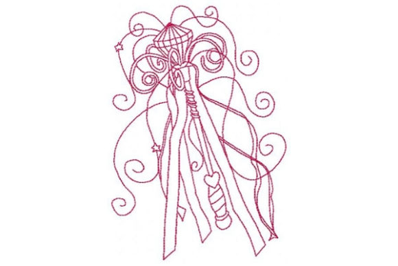 Princess Magic Wand Accessories Embroidery Design By Sue O'Very Designs