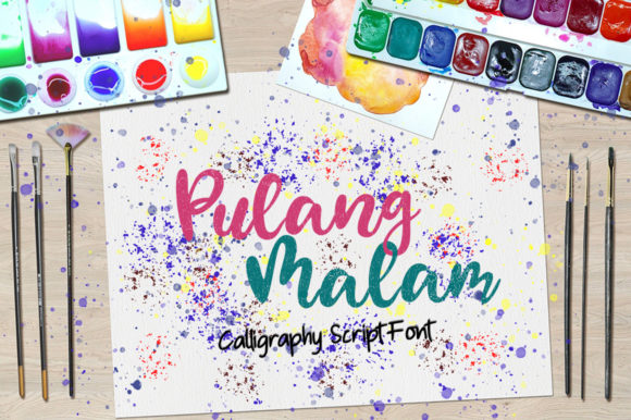 Print on Demand: Pulang Malam Script & Handwritten Font By Green Adventure Studio