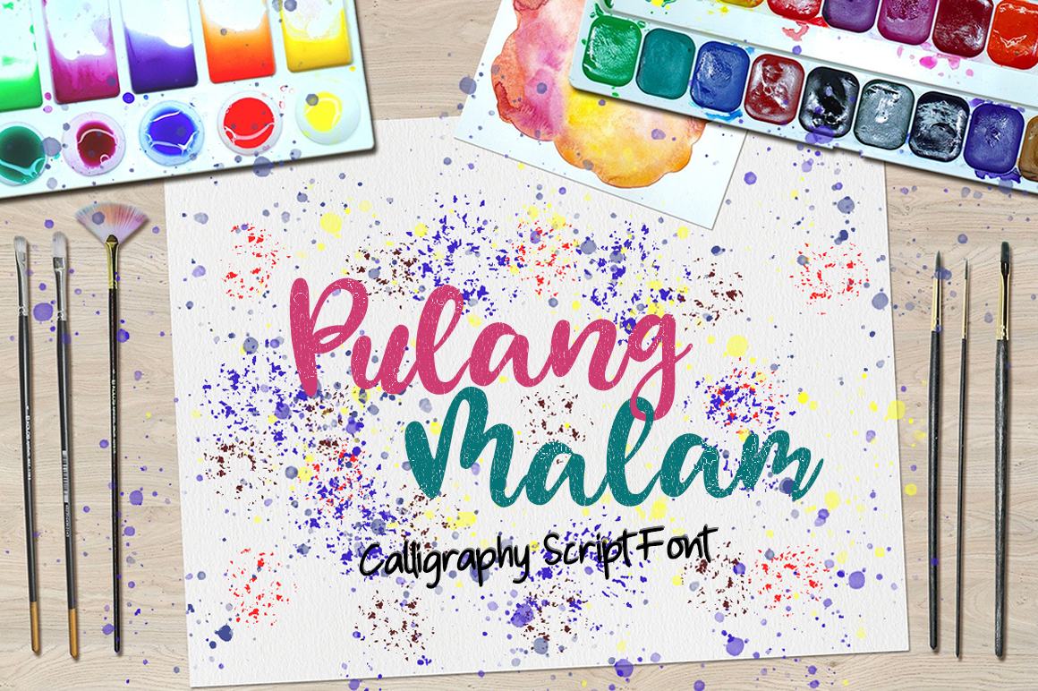Download Free Pulang Malam Font By Green Adventure Studio Creative Fabrica for Cricut Explore, Silhouette and other cutting machines.