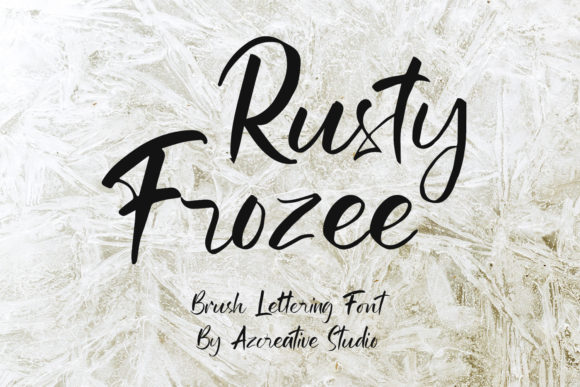Download Free Rusty Frozee Font By Azcreative Studio Creative Fabrica for Cricut Explore, Silhouette and other cutting machines.