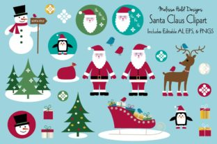 Download Free Santa Claus Vector Clipart Graphics Graphic By Melissa Held for Cricut Explore, Silhouette and other cutting machines.
