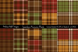 Seamless Autumn Plaids Graphic Patterns By Melissa Held Designs