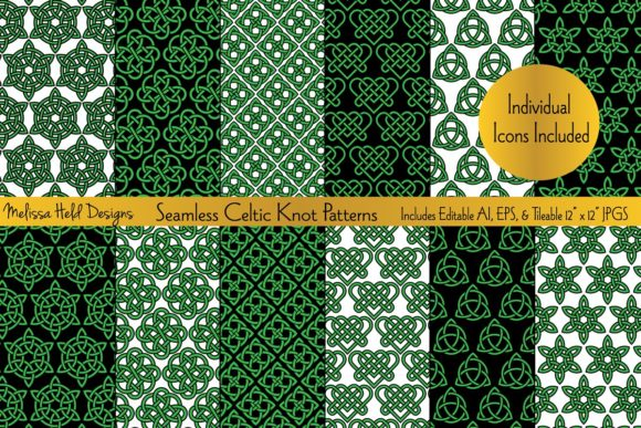 Download Free Seamless Celtic Knot Patterns Graphic By Melissa Held Designs for Cricut Explore, Silhouette and other cutting machines.