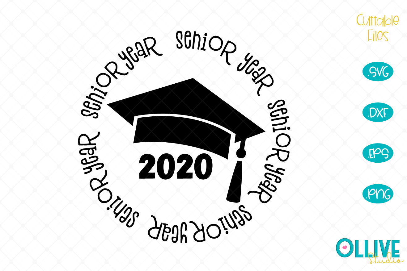 Download Free Senior Graduation 2020 Graphic By Ollivestudio Creative Fabrica for Cricut Explore, Silhouette and other cutting machines.