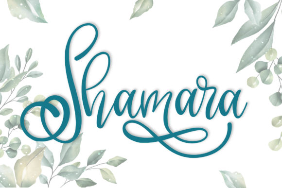 Print on Demand: Shamara Script & Handwritten Font By niyos.studio