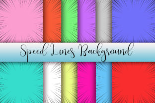 Print on Demand: Speed Lines Background Graphic Backgrounds By PinkPearly