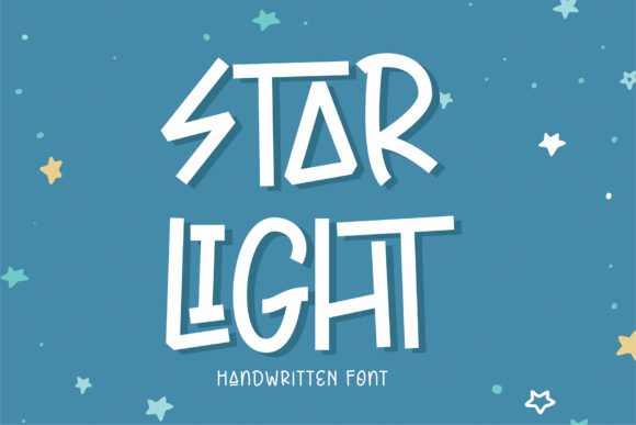 Print on Demand: Star Light Display Font By Sigit Dwipa