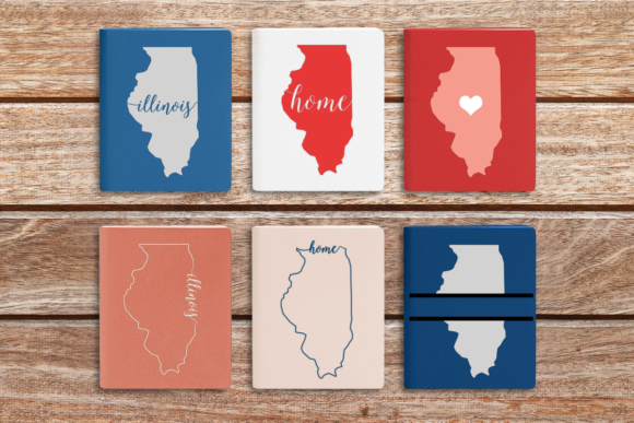 Download Free State Of Illinois Graphic By Designedbygeeks Creative Fabrica for Cricut Explore, Silhouette and other cutting machines.