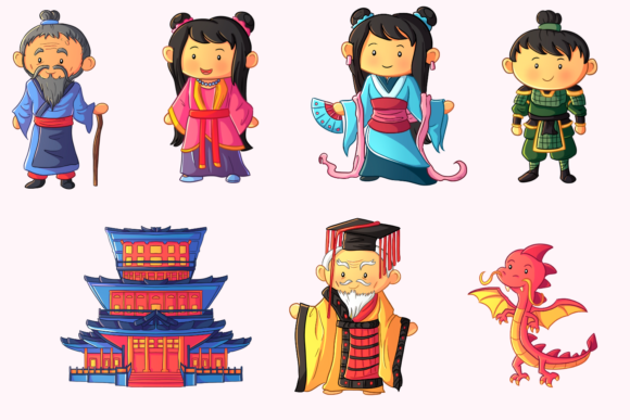 Download Free Story Of Mulan Clip Art Collection Graphic By for Cricut Explore, Silhouette and other cutting machines.