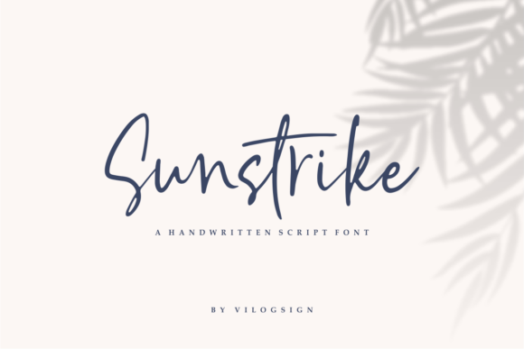 Print on Demand: Sunstrike Script & Handwritten Font By Vilogsign