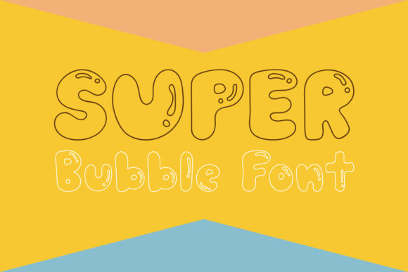 Print on Demand: Super Bubble Script & Handwritten Font By Wanida Toffy