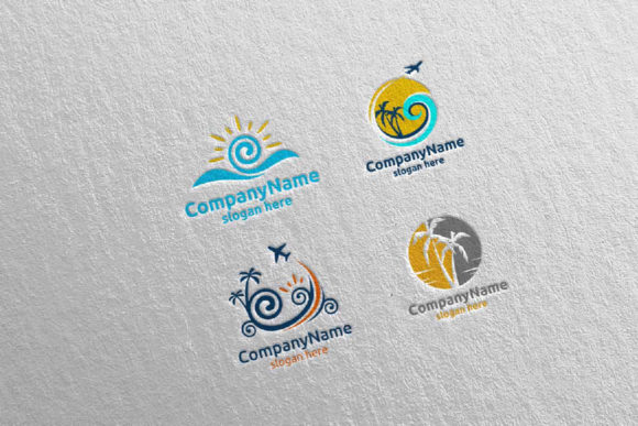 Download Free Travel And Tour Logo Design 11 Graphic By Denayunecf Creative for Cricut Explore, Silhouette and other cutting machines.