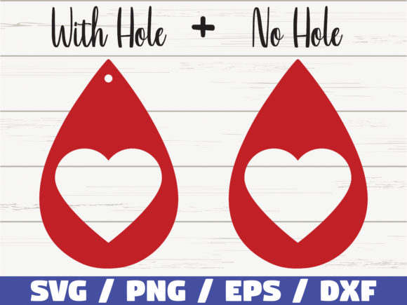 Download Free Valentine Earrings Cut Files Graphic By Zecworkshop Creative for Cricut Explore, Silhouette and other cutting machines.