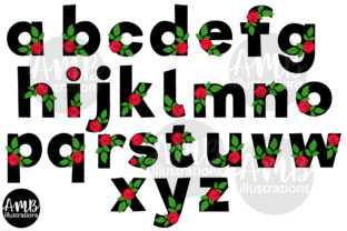 Valentine Rose Letters Clipart Graphic Illustrations By AMBillustrations 1