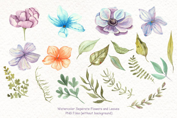 Print on Demand: Watercolor Cats and Flowers Graphic Illustrations By tanatadesign - Image 3