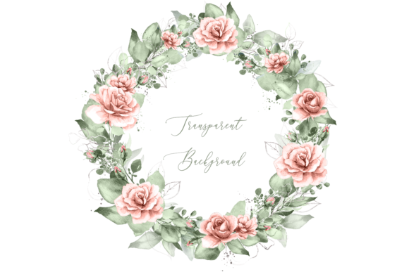 Download Free Watercolor Pink Rose Greenery Wreath Graphic By Designitfor for Cricut Explore, Silhouette and other cutting machines.