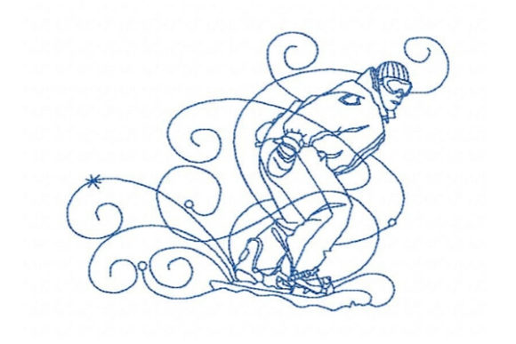 Winter Snowboarder Winter Embroidery Design By Sue O'Very Designs