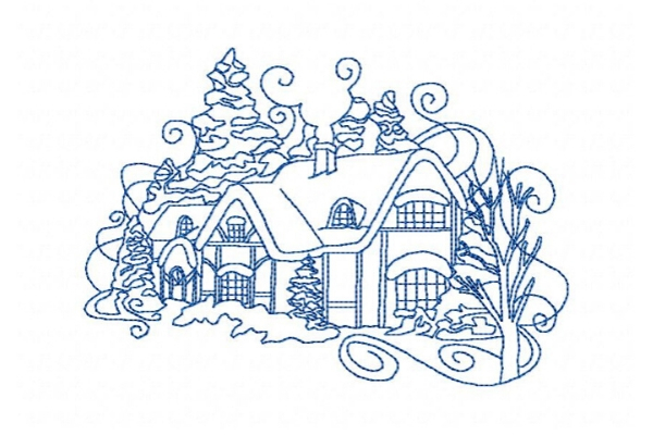 Download Free Winter Tucked Away Cabin Creative Fabrica for Cricut Explore, Silhouette and other cutting machines.