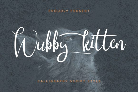 Print on Demand: Wubby Kitten Script & Handwritten Font By EdricStudio