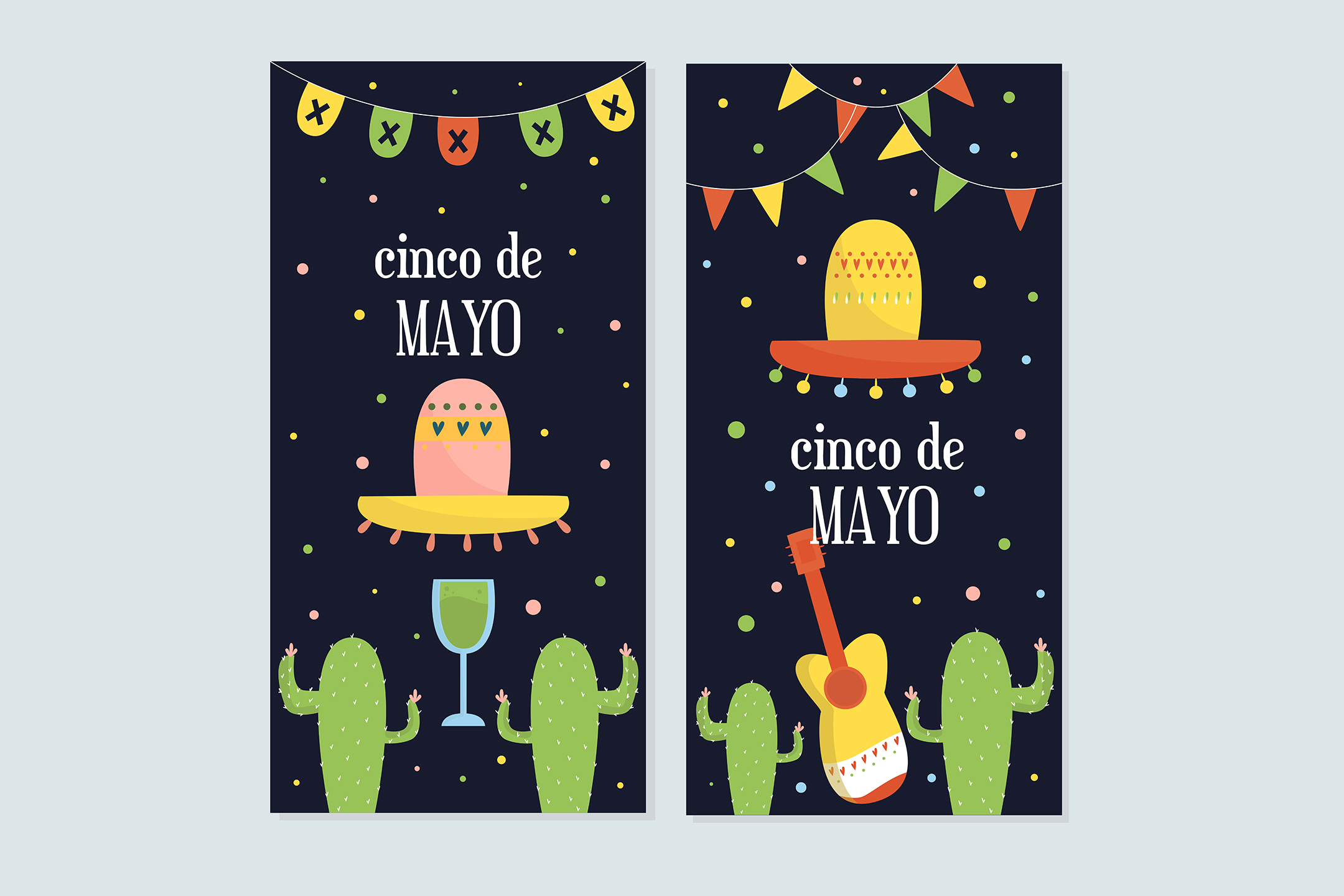 Download Free Cinco De Mayo Mexican Banner Set Graphic By Aprlmp276 Creative for Cricut Explore, Silhouette and other cutting machines.