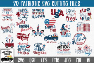 Download Free 4th Of July Bundle Graphic By Oldmarketdesigns Creative Fabrica for Cricut Explore, Silhouette and other cutting machines.