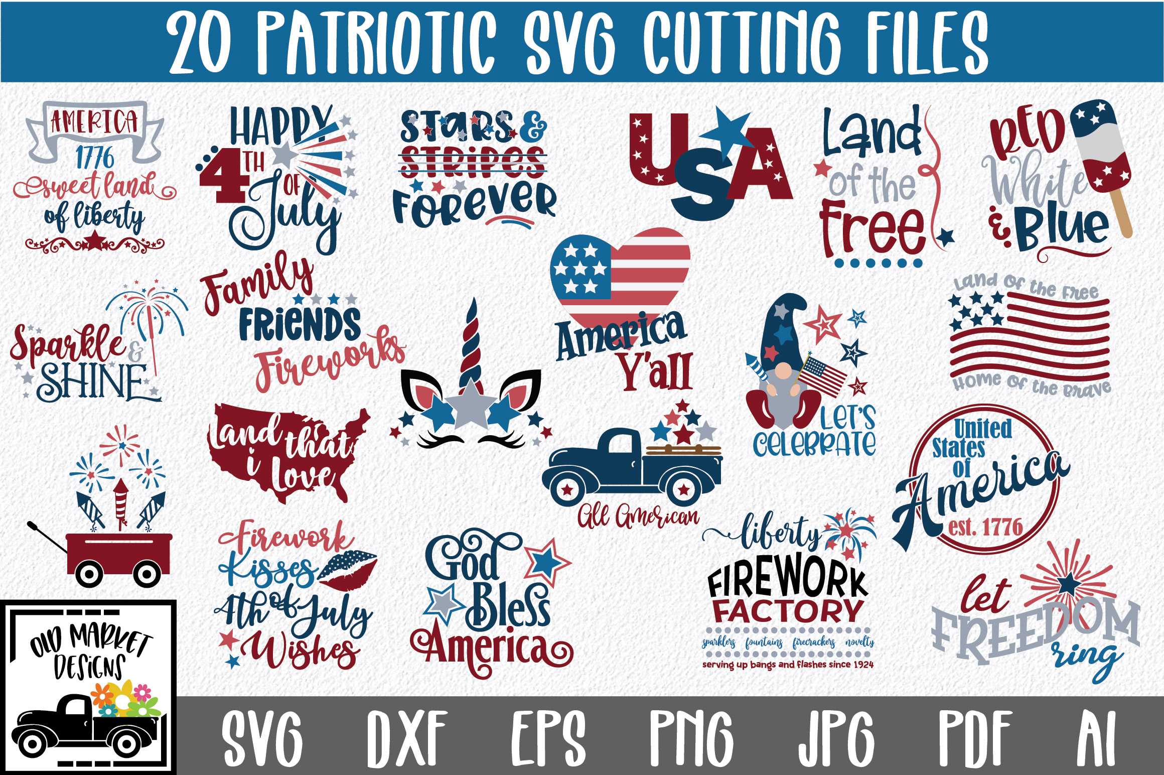 4th Of July Bundle Graphic By Oldmarketdesigns Creative Fabrica