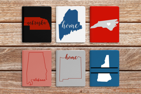 50 US States Graphic Crafts By DesignedByGeeks
