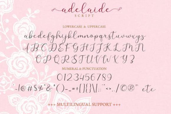 Print on Demand: Adelaide Script & Handwritten Font By airotype - Image 9