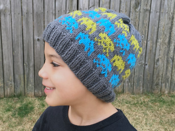Alien Invasion Knit Beanie Pattern Graphic Knitting Patterns By Knit and Crochet Ever After