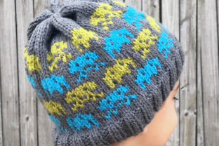 Alien Invasion Knit Beanie Pattern Graphic Knitting Patterns By Knit and Crochet Ever After 3