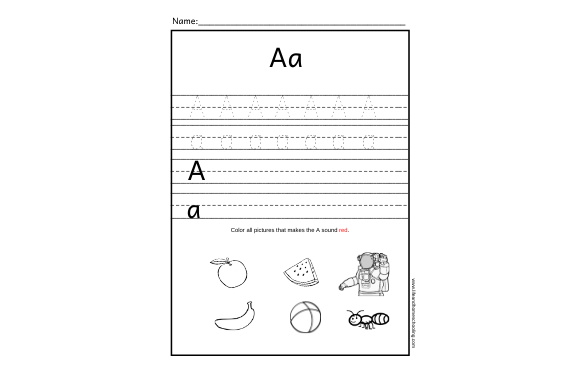 Alphabet Trace & Sound Graphic PreK By lifeandhomeschooling