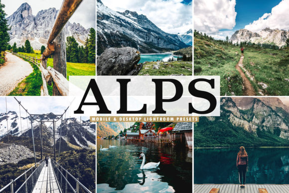 Print on Demand: Alps Lightroom Presets Pack Graphic Actions & Presets By Creative Tacos