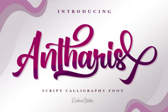 Print on Demand: Antharis Script & Handwritten Font By EmbunStudio