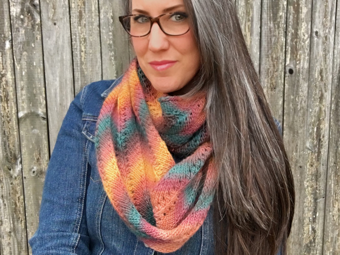 Download Free Autumn Infinity Scarf Knitting Pattern Graphic By Knit And for Cricut Explore, Silhouette and other cutting machines.