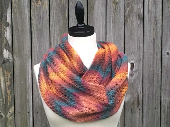 Autumn Infinity Scarf Knitting Pattern Graphic Download