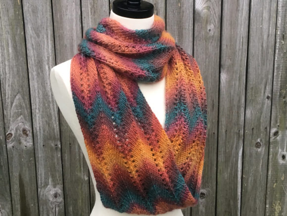 Autumn Infinity Scarf Knitting Pattern Graphic Item