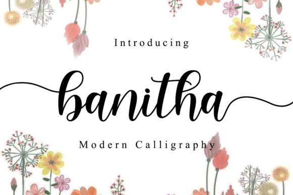 Print on Demand: Banitha Script & Handwritten Font By Manjalistudio