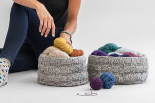 Basketweave Baskets Knitting Pattern Graphic Knitting Patterns By Knit and Crochet Ever After