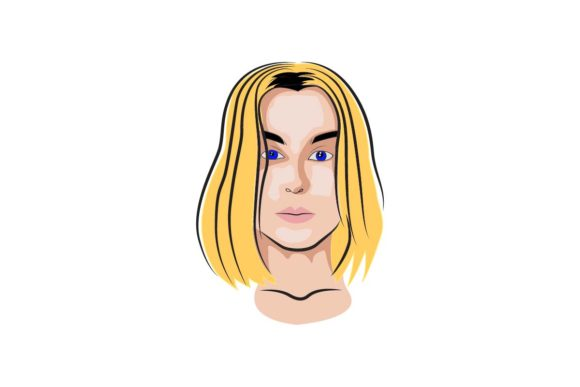 Beauty Blonde Graphic Illustrations By artpray