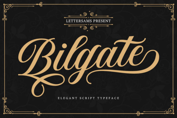 Print on Demand: Bilgate Script & Handwritten Font By Lettersams - Image 1
