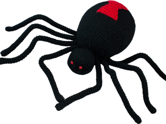 Black Widow Spider Crochet Pattern Graphic Crochet Patterns By Knit and Crochet Ever After - Image 1