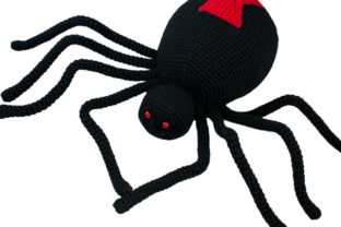 Black Widow Spider Crochet Pattern Graphic Crochet Patterns By Knit and Crochet Ever After